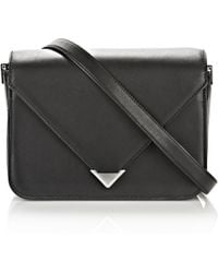 Alexander Wang | Prisma Envelope Sling In Black With Rhodium | Lyst