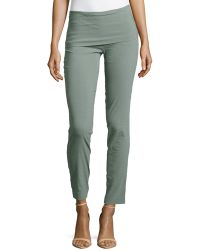 Donna Karan New York Fold-Over Stretch-Linen Tube Pants - Lyst