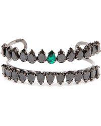 Chanael K - Double-row Corundum Embellished Bracelet - Lyst