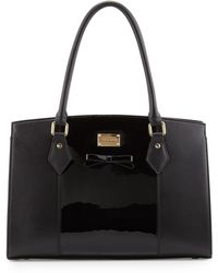 St. John - Patent/smooth Leather Bow Tote Bag - Lyst