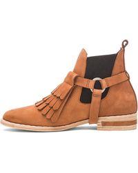 Frēda Salvador - Fringe Nubuck Leather Boots - Lyst