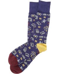 Paul Smith Collage Socks - Lyst