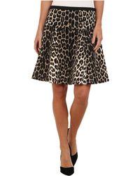 Karen Kane Cheetah Scuba Skirt - Lyst
