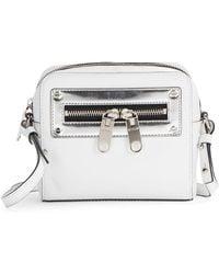 Milly Riley Leather Mini Crossbody Bag - Lyst