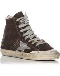 Golden Goose Deluxe Brand Francy Suede Hightop Sneakers brown - Lyst