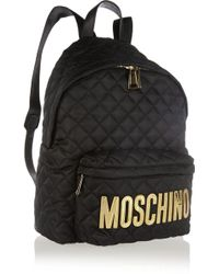 Moschino Appliquéd Quilted Shell Backpack - Lyst