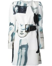 Carven Vintage Graphic Printed Dress - Lyst