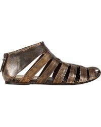 Marsell Metallic Fisherman Flat Sandals - Lyst