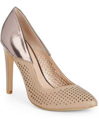 French Connection Maya Colorblock Cutout Nappa Point Toe Pumps - Lyst