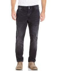 PRPS Black Pilar Chino Straight Leg Pants - Lyst