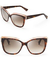 Dior Glisten Cat Eye Sunglasses - Lyst