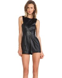 Shakuhachi - Leather Playsuit - Lyst