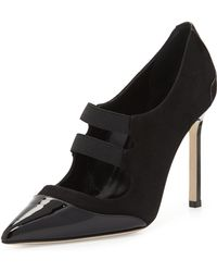 Manolo Blahnik Prodita Mary Jane Captoe Suede Pump - Lyst