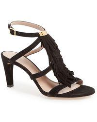 Chloé 'Daniella' T-Strap Sandal - Lyst