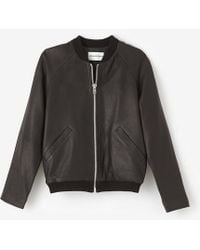 Won Hundred Isa Leather Bomber - Lyst