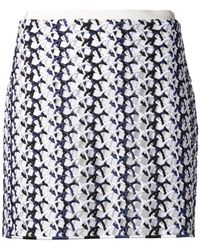 Stella McCartney Open Knit Skirt - Lyst