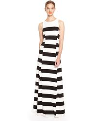 DKNY Stripe Maxi Sleeveless Dress - Lyst