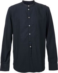 Massimo Alba Kos Washed Flannel Popover Shirt - Lyst