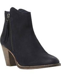 Dune Pollie Leather Ankle Boots - For Women blue - Lyst