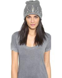 Markus Lupfer - Tiana Beanie Hat - Grey/silver - Lyst