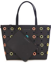 Marc By Marc Jacobs Metropolitote Perforated Coated-Leather Tote Bag - Lyst