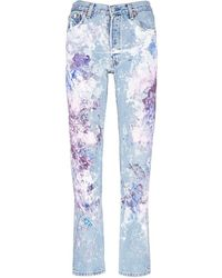 Rialto Jean Project - One Of A Kind Hand-painted Splatter Distressed Vintage Boyfriend Jeans - Lyst