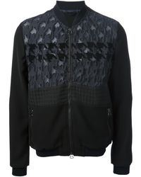 Lanvin Mix Fabric Jacket - Lyst