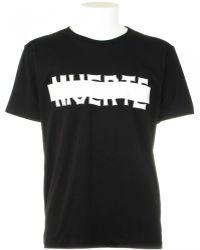 Marcelo Burlon Muerte Black T-Shirt black - Lyst
