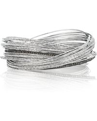 Coomi - Spring Sterling Silver Bracelet W/ Interlaced Stacks - Lyst