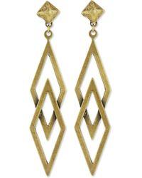 Auden - Dakota Brass Statement Earrings - Lyst