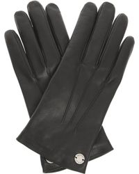 Gucci Black Leather Gloves - Lyst