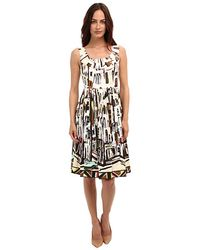 Kate Spade Scoop Neck Landscape Dress - Lyst