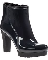 Andre Assous Mila Rain Boot Black Rubber - Lyst