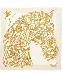 Gucci Foulard Troy Horse Scarf - Lyst