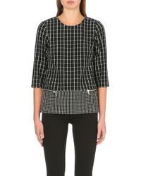 Michael by Michael Kors Zipdetail Geometric Top Black - Lyst