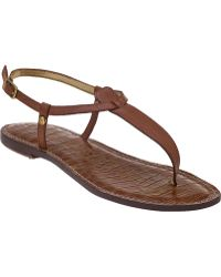 Sam Edelman Gigi Flat Sandal Saddle Leather - Lyst