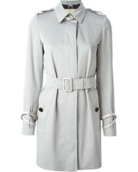Burberry London Belted Trench Coat - Lyst
