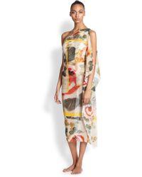 Jean Paul Gaultier One-shoulder Side-draped Dress - Lyst
