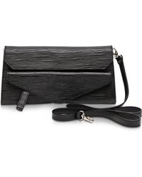 Francesco Biasia - Kenton Leather Clutch W/shoulder Strap - Lyst