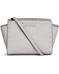 Michael Kors | 'selma Stud' Medium Saffiano Leather Messenger Bag | Lyst