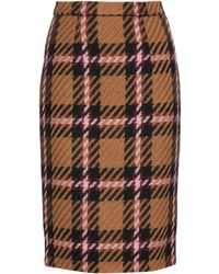 Miu Miu Tartan Pencil Skirt - Lyst