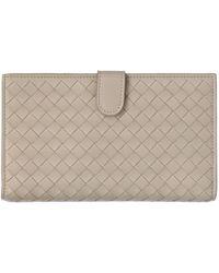 Bottega Veneta Intreccio Leather Continental Wallet - Lyst