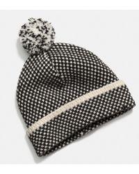 Coach Birdseye Knit Hat - Lyst