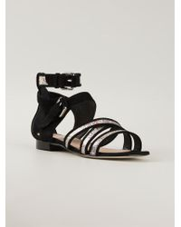 Markus Lupfer Glitter Detail Sandals - Lyst