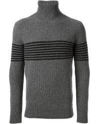 Ermanno Scervino Striped Turtle Neck Sweater - Lyst