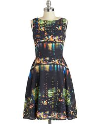 ModCloth Saturday Night Thrive Dress multicolor - Lyst
