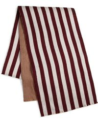Bally Striped Virgin Woolsilk Scarf - Lyst