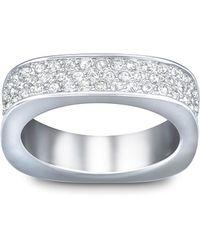 Swarovski Vio Crystal And Silver-Tone Ring Size 6 - Lyst