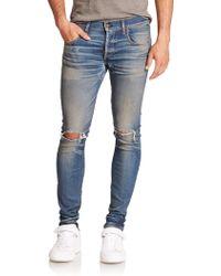Rag & Bone Button-Fly Skinny Jeans blue - Lyst