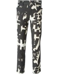 Isabel Marant Abstract Print Trousers black - Lyst